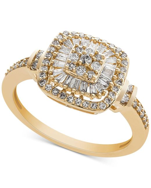 Macy's - Metallic Diamond Vintage-inspired Ring (1/2 Ct. T.w.) In 14k White Gold, Yellow Gold And Rose Gold. - Lyst