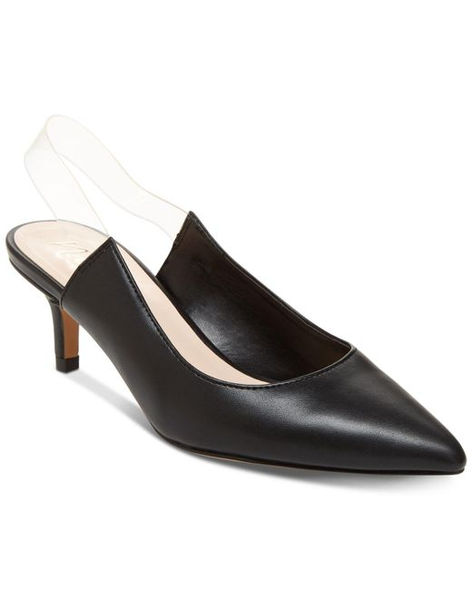 Nanette Lepore Black Nanette By Harmony Lucite Sling Pumps, Created For Macy's