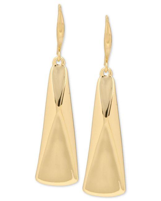 Robert Lee Morris - Metallic Gold-tone Sculptural Rectangle Drop Earrings - Lyst
