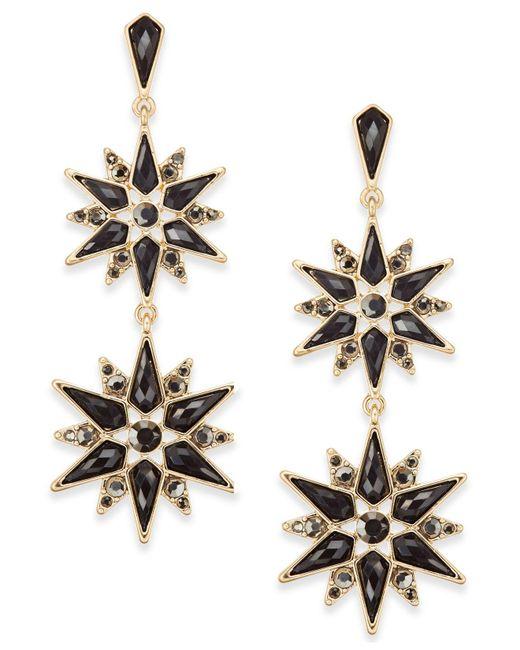 INC International Concepts | Metallic Gold-tone Stone & Crystal Starburst Double Drop Earrings | Lyst
