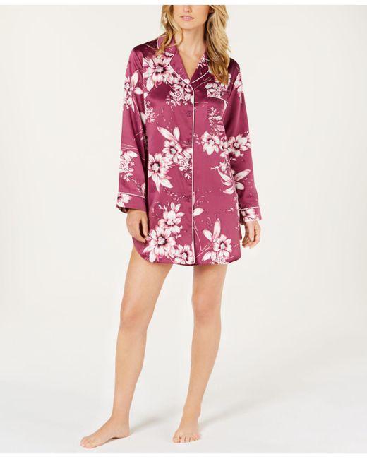 8e0221f28a Linea Donatella - Multicolor Sleepy Head Flower-print Satin Sleepshirt  Shm160 - Lyst
