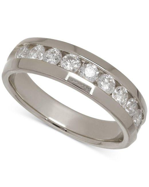 Macy's | Men's Diamond Band In 14k White Gold (1 Ct. T.w.) for Men | Lyst