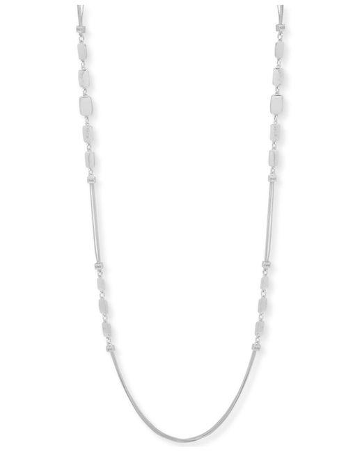 "Nine West - Metallic Tri-tone Triple Strand Decorative 42"" Statement Necklace - Lyst"