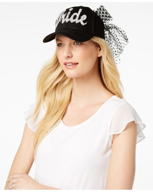 Betsey Johnson - Black Retro Bride Baseball Hat - Lyst