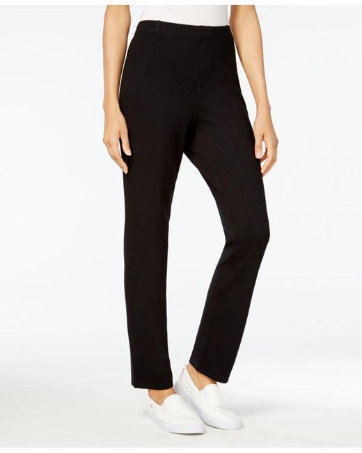 Karen Scott Black Pull-on Comfort Pants, Created For Macy's