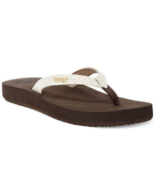 Reef - Brown Cushion Sassy Flip Flops - Lyst