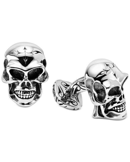 Scott Kay - Metallic Men's Skull Cuff Links In Sterling Silver for Men - Lyst