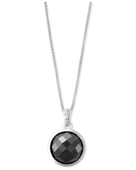 Effy Collection | Metallic Hematite (12mm) Pendant Necklace In Sterling Silver | Lyst
