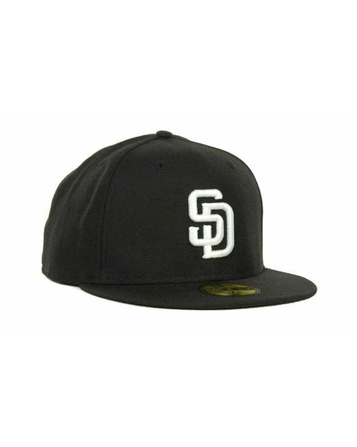 b002b36155e1e ... KTZ - Black San Diego Padres Mlb B-dub 59fifty Cap for Men - Lyst ...