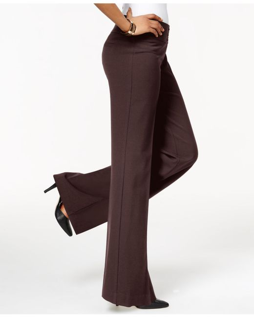 Style & Co. | Brown Stretch-jersey Wide-leg Pants  | Lyst