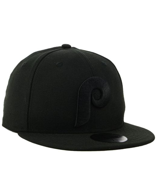 best website fb5f6 59487 ... KTZ - Philadelphia Phillies Blackout 59fifty Fitted Cap for Men - Lyst  ...