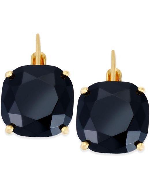 Kate Spade - Blue Crystal Small Drop Earrings - Lyst