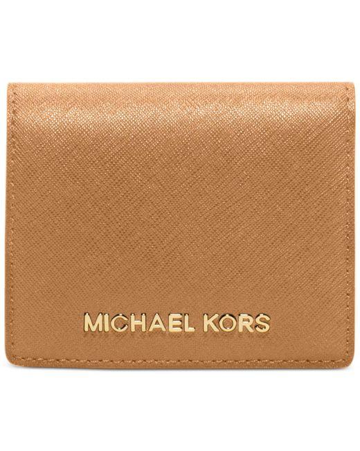 Michael Kors   Multicolor Jet Set Travel Flap Card Holder   Lyst