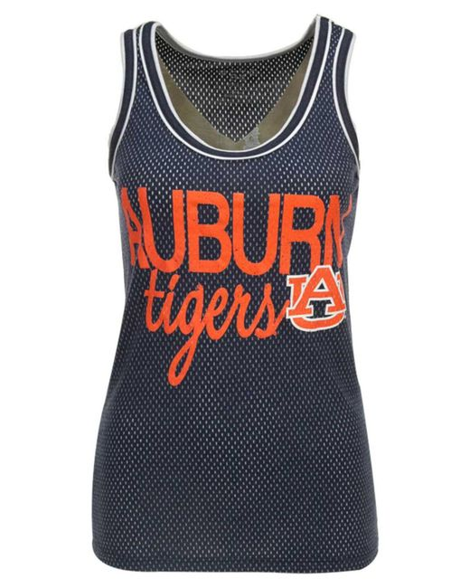 Step Ahead - Blue Women's Auburn Tigers Binocular Mesh Tank Top - Lyst
