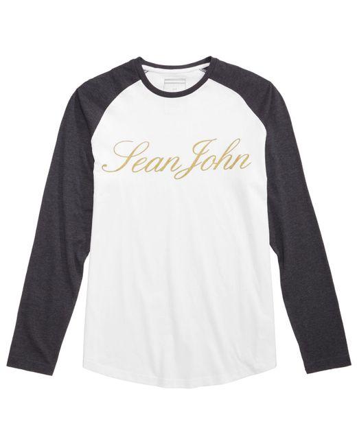 Sean John | White Men's Raglan Graphic-print T-shirt for Men | Lyst