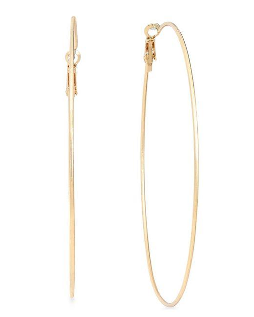 INC International Concepts - Metallic Large Hoop Earrings - Lyst