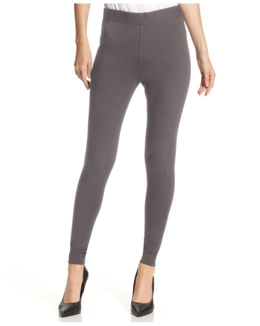 Vince Camuto | Gray Ponte-knit Leggings | Lyst