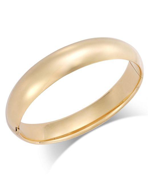 Macy's | Metallic Polished Hinge Bangle Bracelet In 14k Gold | Lyst
