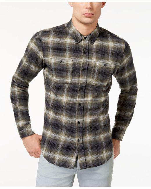 Ezekiel - Green Men's Harborside Plaid Shirt for Men - Lyst