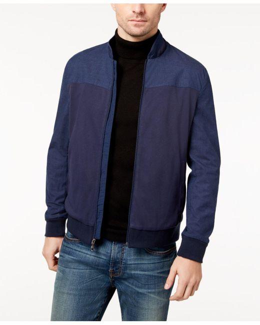 Vince Camuto | Blue Men's Bomber Jacket for Men | Lyst