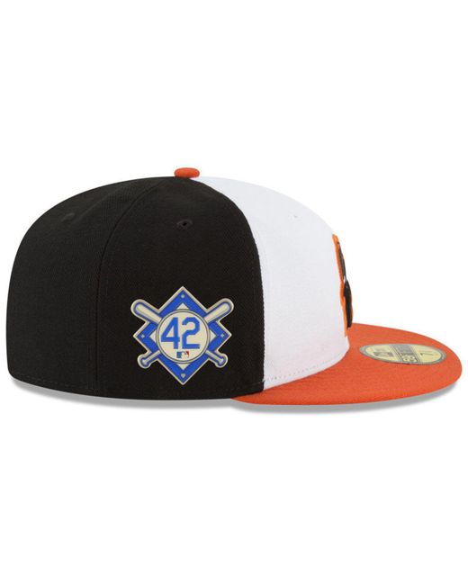 on sale 82a40 4a418 ... KTZ - Multicolor Baltimore Orioles Jackie Robinson Day 59fifty Fitted  Cap for Men - Lyst ...