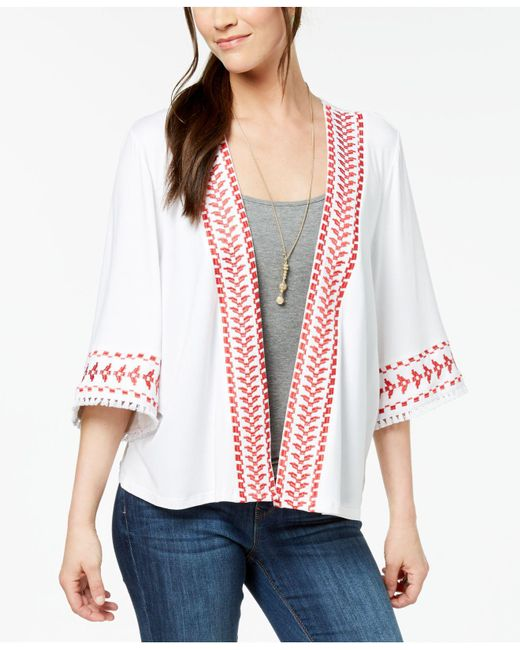 Style & Co. - White Geo-trim Kimono, Created For Macy's - Lyst