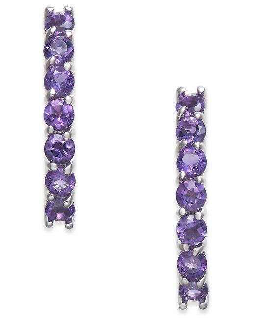 Macy's | Multicolor Amethyst Drop Earrings (1-3/8 Ct. T.w.) In 14k White Gold | Lyst