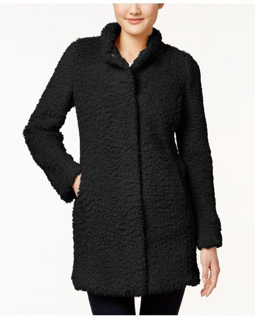 Kenneth Cole | Black Plus Size Faux-fur Coat | Lyst