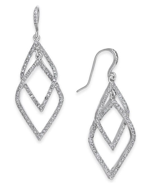 INC International Concepts - Metallic I.n.c. Silver-tone Pavé Orbital Drop Earrings, Created For Macy's - Lyst