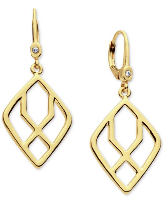 Ivanka Trump - Metallic Goldtone Geometric Open Drop Earrings - Lyst