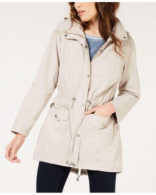 Style & Co. - White Tunic-length Anorak Jacket - Lyst