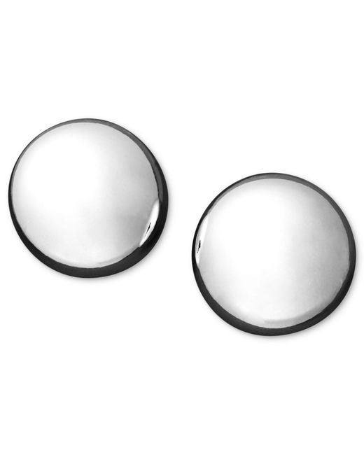 Macy's | Metallic 14k Gold Earrings, Flat Ball Stud (7mm) | Lyst