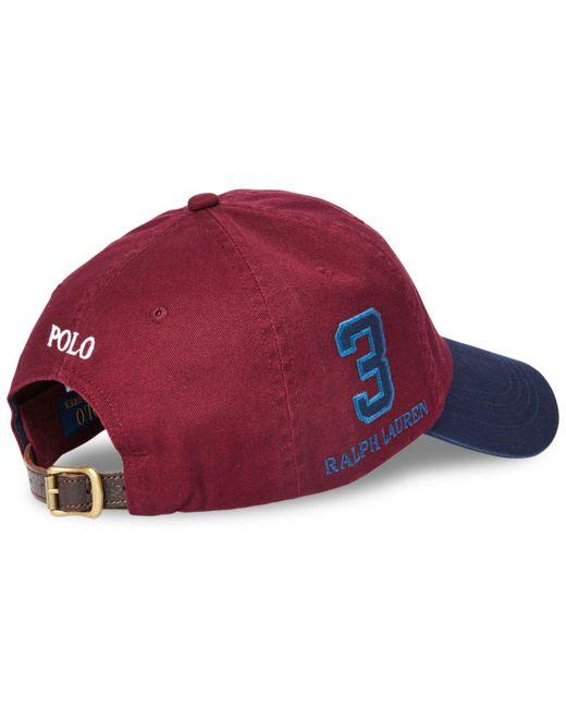 7d8ff020 ... Polo Ralph Lauren - Red Big Pony Baseball Cap for Men - Lyst
