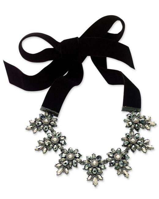 INC International Concepts | Hematite-tone Black Velvet Crystal Cluster Choker Necklace | Lyst