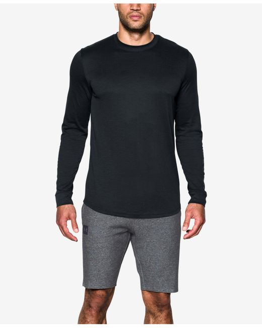 Under Armour | Black Men's Sportstyle Charged Cotton® Long-sleeve T-shirt for Men | Lyst