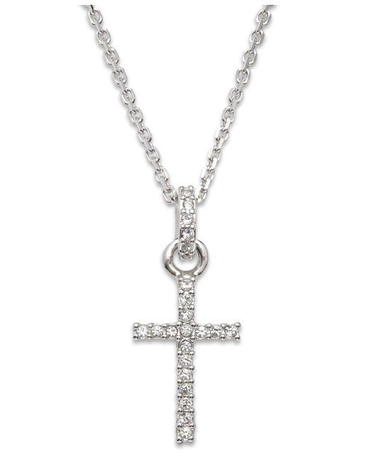 Swarovski   Metallic Crystal Delicate Cross-pendant Necklace   Lyst