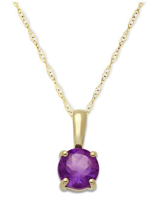 Macy's - Metallic Amethyst Pendant Necklace In 14k Gold (5/8 Ct. T.w.) - Lyst