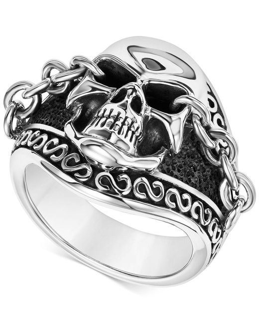 Scott Kay - Metallic Men's Skull & Chain Ring In Sterling Silver for Men - Lyst