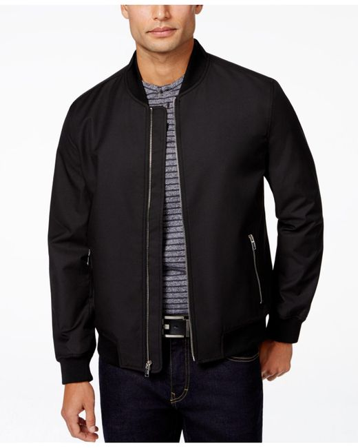 Alfani | Orange Men's Deleir Ribbed Bomber Jacket for Men | Lyst