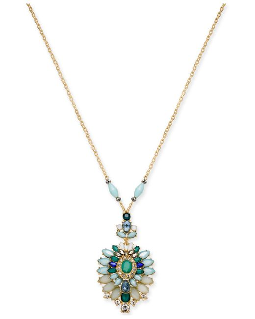 """INC International Concepts - Metallic I.n.c. Gold-tone Multi-stone 33"""" Pendant Necklace, Created For Macy's - Lyst"""