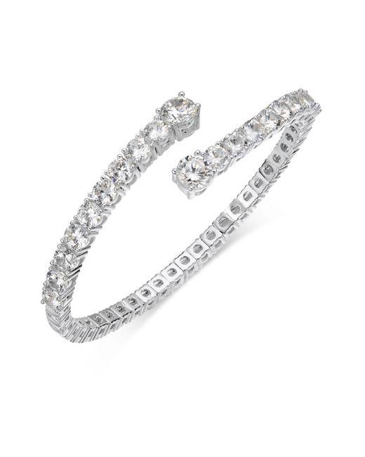 Joan Boyce - White Crystal Flex Bangle Bracelet - Lyst