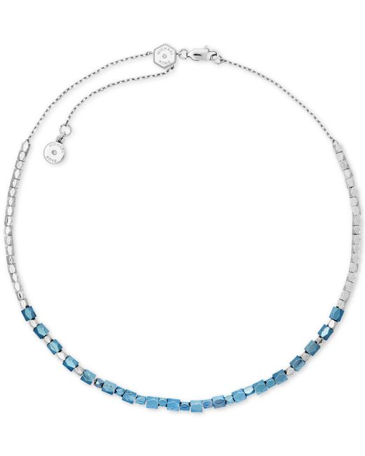 Michael Kors - Blue Two-tone Nugget Bead Choker Necklace - Lyst