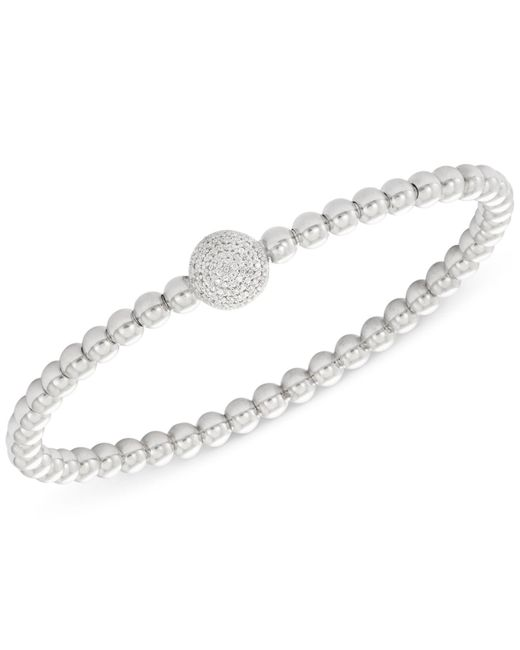 Wrapped in Love | Metallic Diamond Cluster Circle Bead Stretch Bracelet (1/6 Ct. T.w.) In Sterling Silver | Lyst