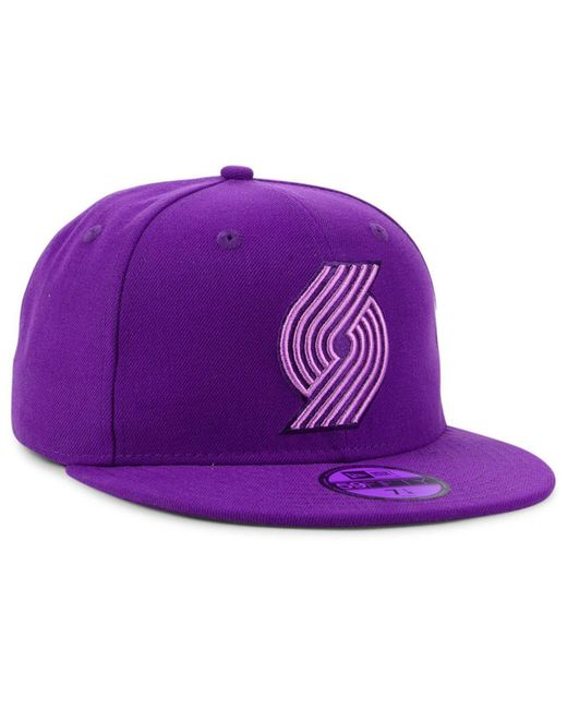 sports shoes 227a6 3a9a7 ... KTZ - Purple Portland Trail Blazers Color Prism Pack 59fifty Fitted Cap  for Men - Lyst ...