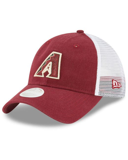 KTZ - Red Arizona Diamondbacks Trucker Shine 9twenty Cap for Men - Lyst