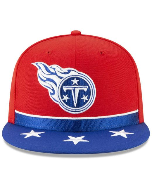 big sale 88d09 e6bef ... KTZ - Red Tennessee Titans Draft Spotlight 9fifty Snapback Cap for Men  - Lyst ...