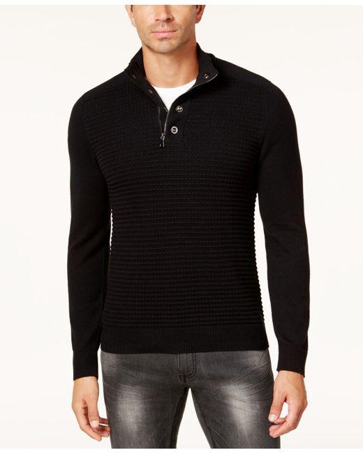 INC International Concepts | Black Men's Quarter-zip Sweater for Men | Lyst