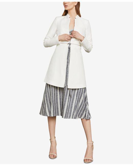 BCBGMAXAZRIA - White Zip-detail A-line Jacket - Lyst