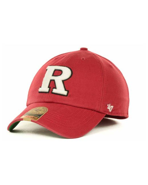 fd0843be4c8 47 Brand - Red Rutgers Scarlet Knights Franchise Cap for Men - Lyst ...