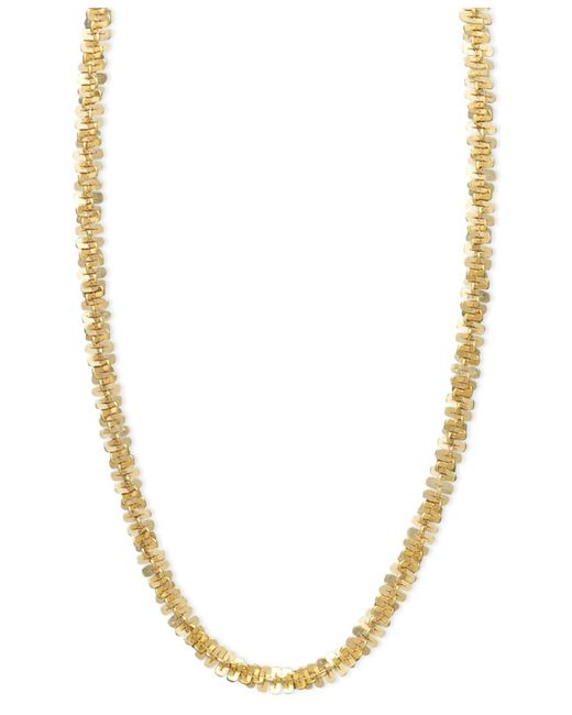 "Macy's - Metallic 14k Gold Necklace, 20"" Faceted Chain (1-1/2mm) - Lyst"